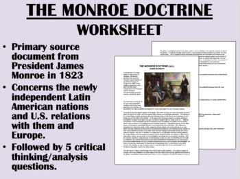 """The Monroe Doctrine"" - James Monroe - US History/APUSH"