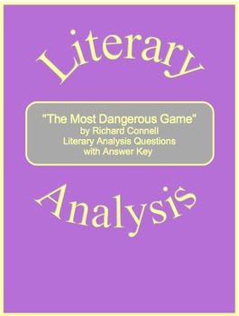 """""""The Most Dangerous Game"""" Literary Analysis Questions with Answer Key"""