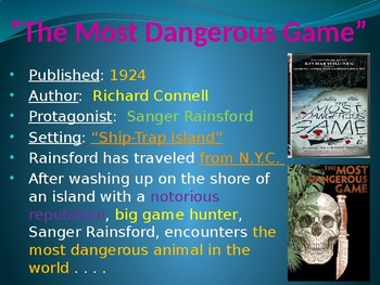 """The Most Dangerous Game"" Power Point Notes"