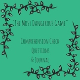"""""""The Most Dangerous Game"""" Reading Check Questions and Journal Prompt"""