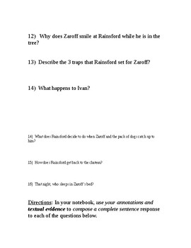 """""""The Most Dangerous Game"""" Study Guide"""