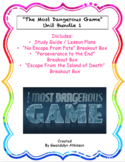 """""""The Most Dangerous Game"""" Study Guide / Breakout Box"""