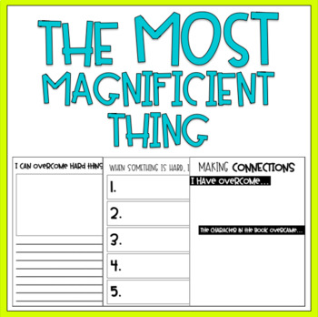 {The Most Magnificent Thing} Activities