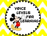 """""""The Mouse"""" Theme -- Red, white, black - Voice Levels Posters"""