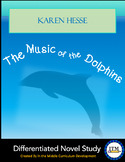 """""""The Music of the Dolphins"""" by Karen Hesse Novel Study"""