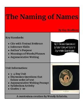 """The Naming of Names"" - Ray Bradbury (Short Story Unit)"