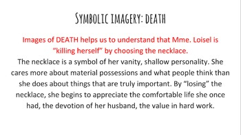 """The Necklace"" Short Story PowerPoint and Notes"