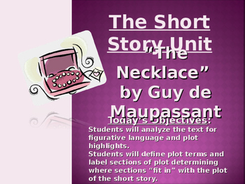 """The Necklace"" by Guy De Maupassant - PowerPoint Presentation / Lessons"