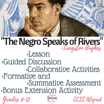 """The Negro Speaks of Rivers"" Complete Poetry Analysis Lesson Digital & Printable"
