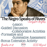 """""""The Negro Speaks of Rivers"""" Complete Poetry Analysis Lesson Digital & Printable"""