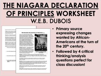 """The Niagara Declaration of Principles"" - WEB DuBois - Civ"