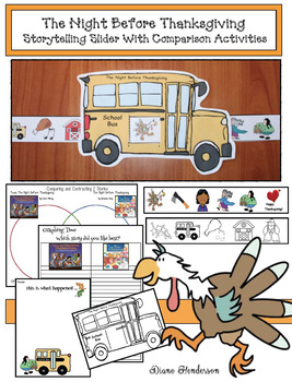 """The Night Before Thanksgiving"" Storytelling Craft With Comparison Activities"