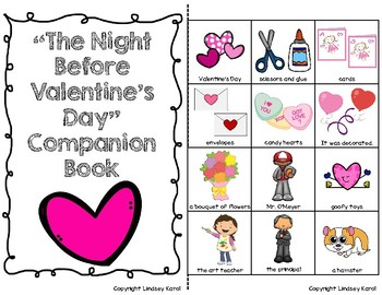 """The Night Before Valentine's Day"" Companion Book: A Story Retelling Guide"