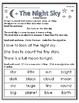 """""""The Night Sky"""" Guided Reading Work"""