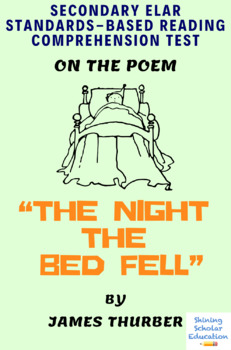 """""""The Night the Bed Fell"""" by James Thurber Multiple-Choice Reading Test"""