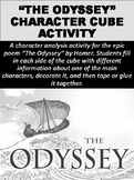 """""""The Odyssey"""" Character Cube Activity"""