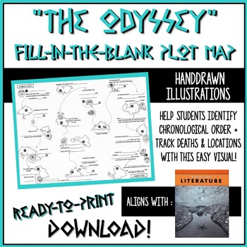 The Odyssey Book 17 Worksheets Teaching Resources TpT