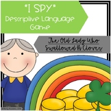 """""""I Spy"""" Descriptive Language Game - """"The Old Lady Who Swallowed A Clover"""""""