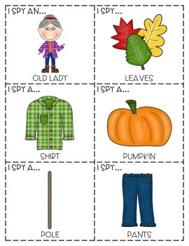 """The Old Lady Who Swallowed Some Leaves"" - ""I Spy"" Descriptive Language Game"