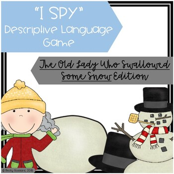 """""""I Spy"""" Descriptive Language Game - """"The Old Lady Who Swallowed Some Snow"""""""
