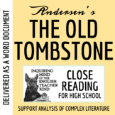 """""""The Old Tombstone"""" by Hans Christian Andersen Close Reading - Word Document"""