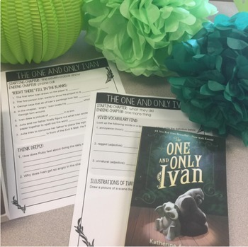 """The One and Only Ivan"" Book Study for Grades 3-6"