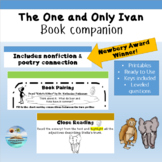 """The One and Only Ivan"" a printable book companion; with assessment and key"