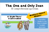 """""""The One and Only Ivan"""" final assessment; printable with key; 30 questions"""