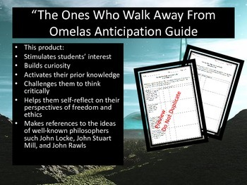 The Ones Who Walk Away From Omelas Anticipation Guide By Omega English