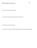 """""""The Open Window"""" Short Story Response Questions"""