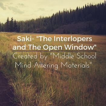 """The Open Window"" and ""The Interlopers"" Print-and-Go Lessons"