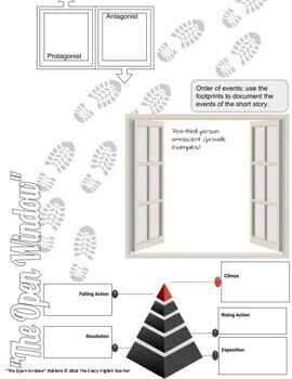 """""""The Open Window"""" by Saki  Short Story Literacy Stations CCSS"""
