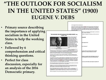 """The Outlook for Socialism in the United States"" - Eugene V. Debs - USH/APUSH"