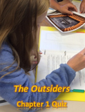 """""""The Outsiders"""" Chapter 1 Quiz - character identification; Printable"""