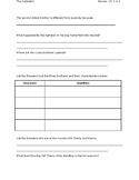 """The Outsiders"" Chapters 1 & 2 Review Worksheet"