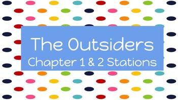 """""""The Outsiders"""" Chapters 1 & 2 Station Activities"""