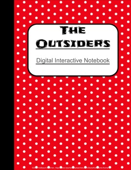 """""""The Outsiders"""" - Digital Interactive Notebook"""