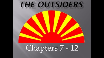 'The Outsiders' Review PowerPoint Presentation with 41 Slides (Chapters 7 - 12)