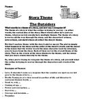 """The Outsiders""  Theme Worksheet"