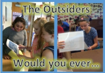 """The Outsiders"" pre-reading discussion questions; PowerPoint"