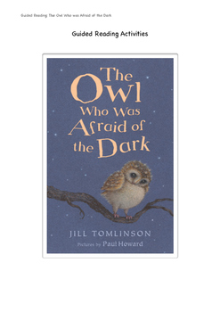 'The Owl Who Was Afraid of the Dark' Comprehension Activity