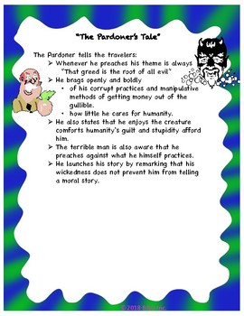 """The Pardoner's Tale"" by Chaucer Lesson Plan / Activities"