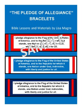 """""""The Pledge of Allegiance"""" Bracelets  - A Great Reminder for Students!"""