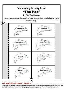 """""""The Pod"""" Interactive Notebook ELA HMH Collections Close Reader Grade 6"""