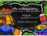 'The Prelude' GCSE AQA Power and conflict for ESL/SEN (De-coding poetry)