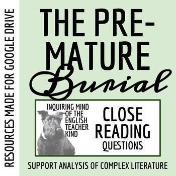 """""""The Premature Burial"""" by Edgar Allan Poe - Quiz & Key"""