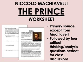 """The Prince"" - Machiavelli - The Renaissance - Global/World History"