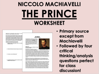 """The Prince"" - Machiavelli - The Renaissance - Global/Worl"