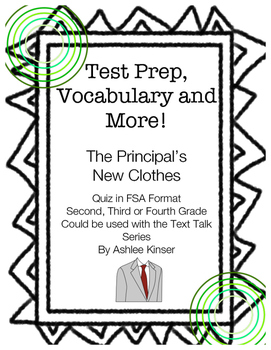 """The Principal's New Clothes - Text Talk - Test Prep - Comprehension"