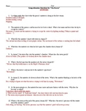 """""""The Raven"""" Comprehension Questions Study Guide with Answers(Example below)"""